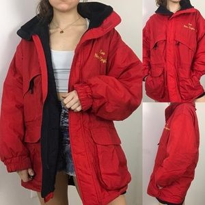 Vintage • Water & WInd Resist Insulated Red Parka